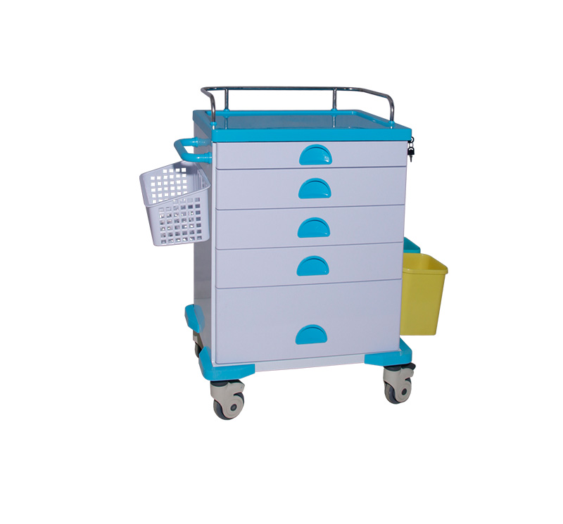 MK-C03 Metal Medication Cart With Castors