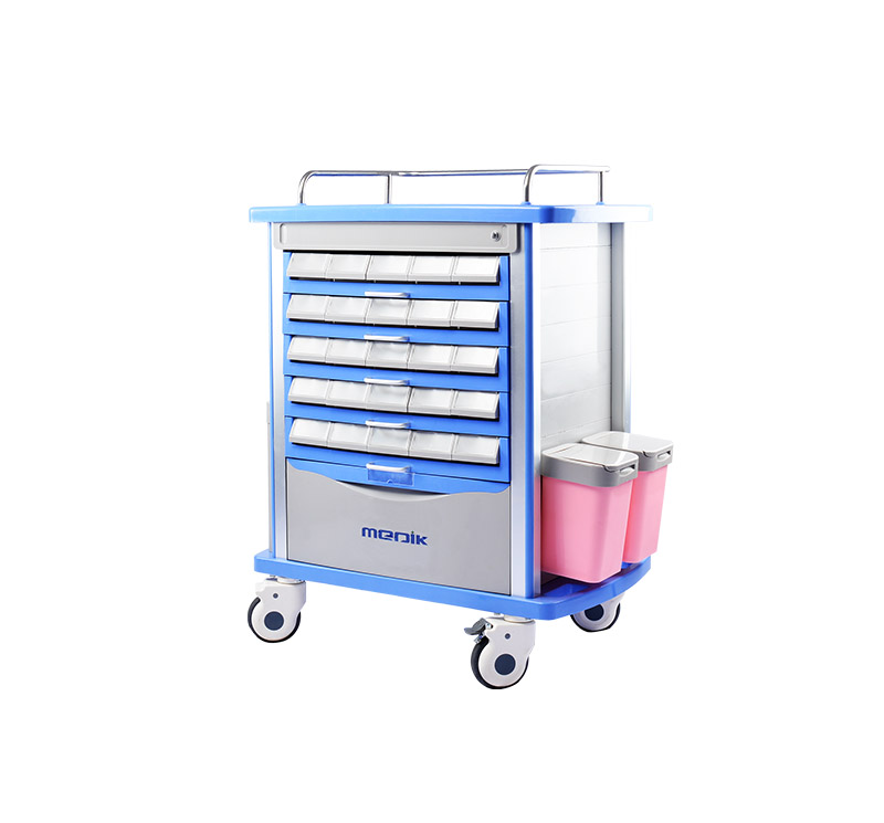 MK-P11 Medication Trolley Double Side Tryers