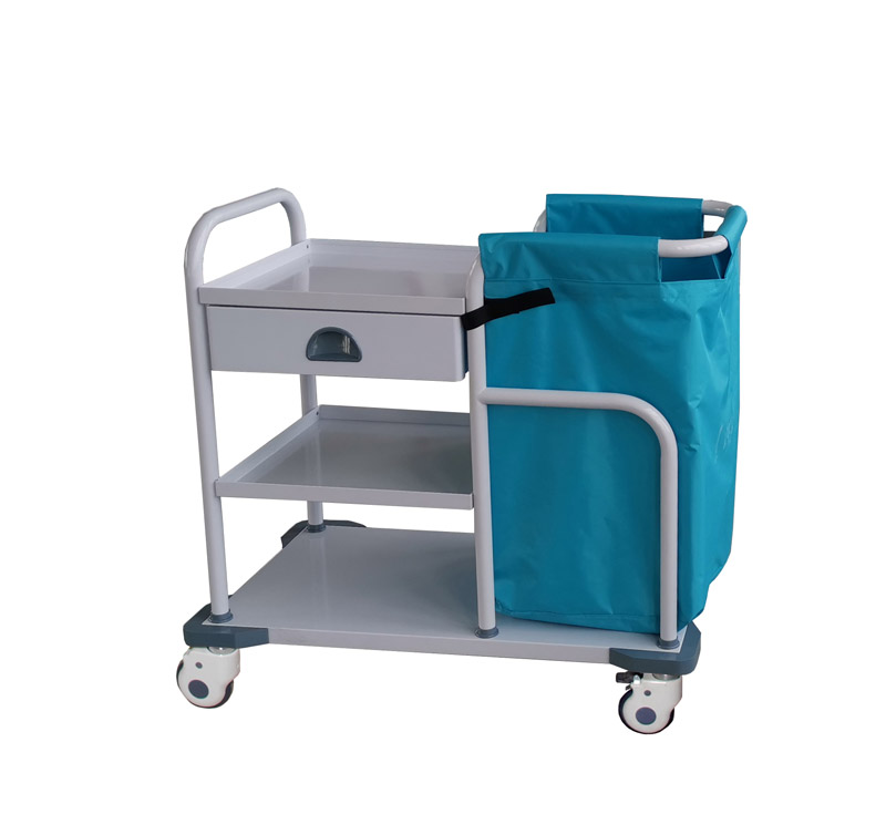 MK-S13B Hospital Metal Laundry Cart