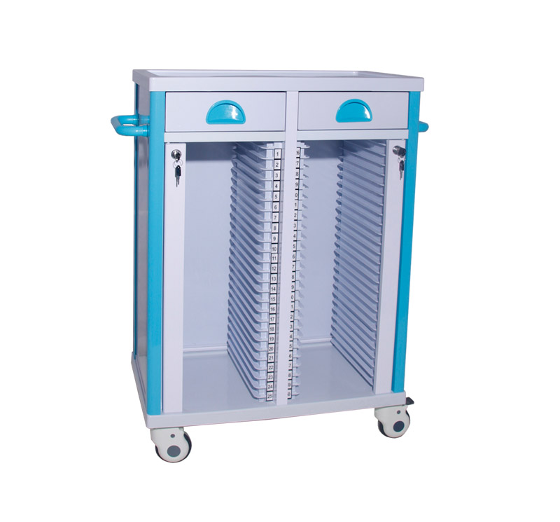 MK-P15A Medical Record Holder Trolley On Wheels
