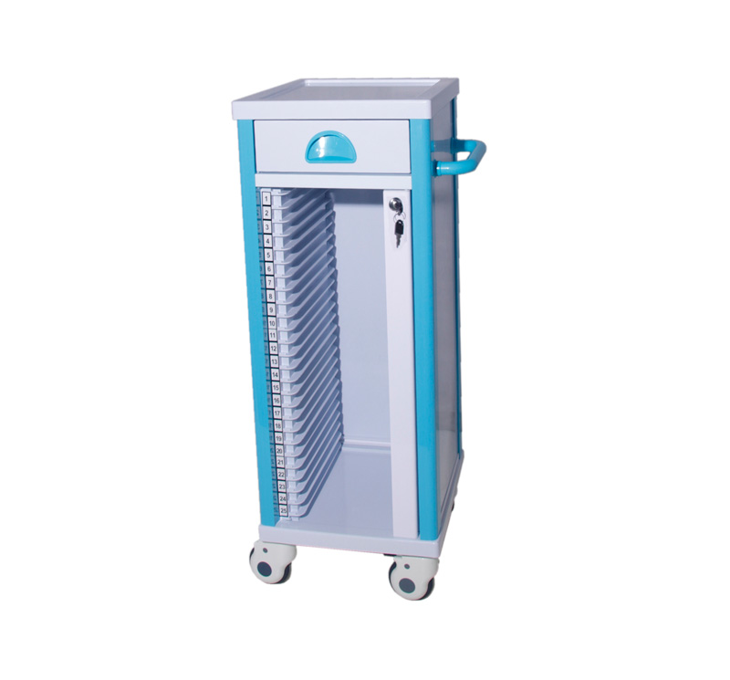 MK-P14A ABS Medical File Trolley With 25 Layers