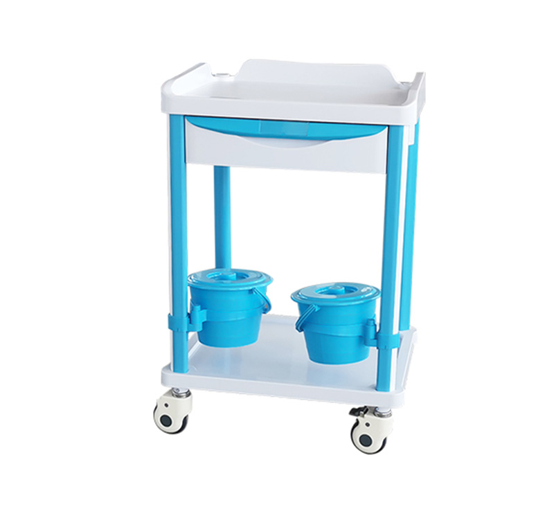 MK-PT06 ABS Medical Treatment Cart With Drawer