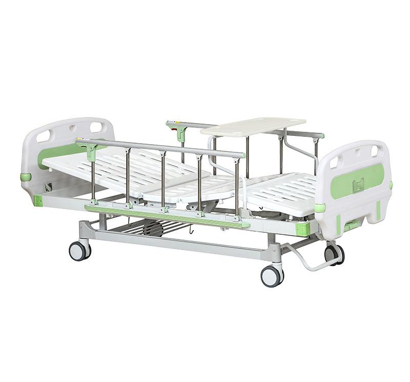 YA-M2-8 Two Crank Manual Nursing Sick Bed With Bumper