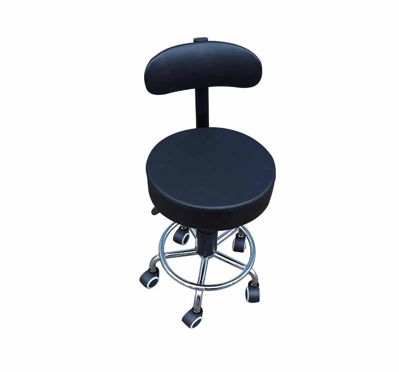 YA-S08 Medical Nurse Chair Doctor Stool With Backrest