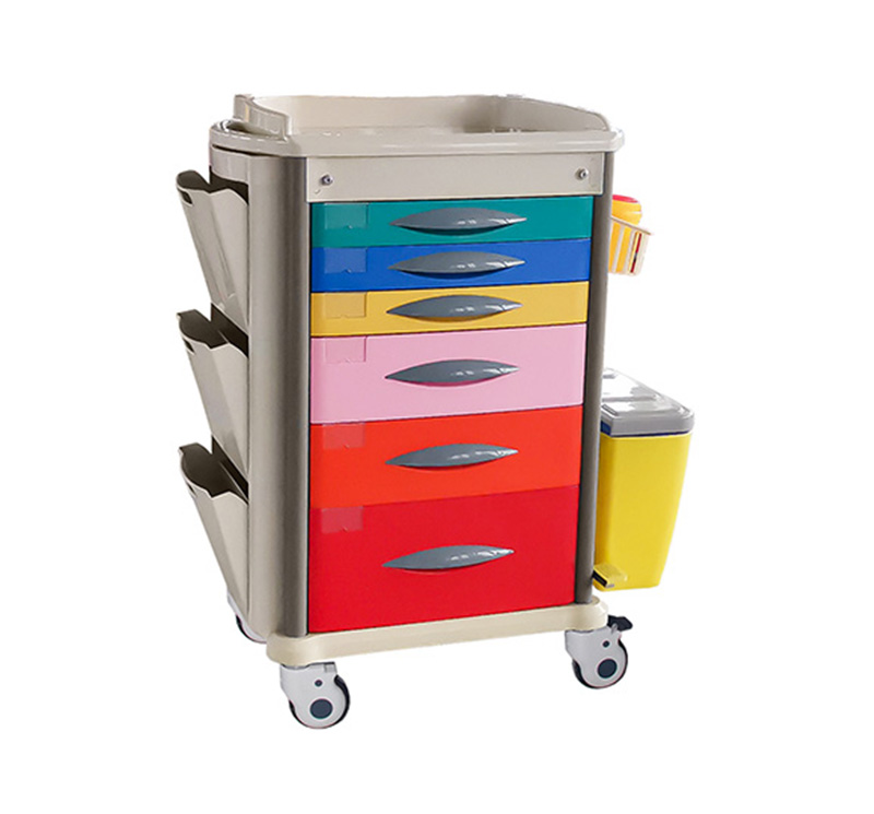 MK-PK01 Pediatric Crash Cart With Color Coding
