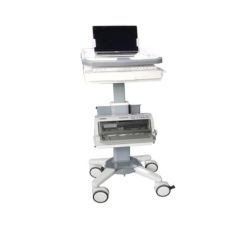 MK-PC02 Height Adjustable Hospital Laptop Carts On Wheels
