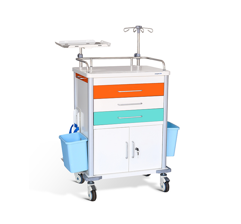 MK-C07 Emergency Room Code Cart With Drawers