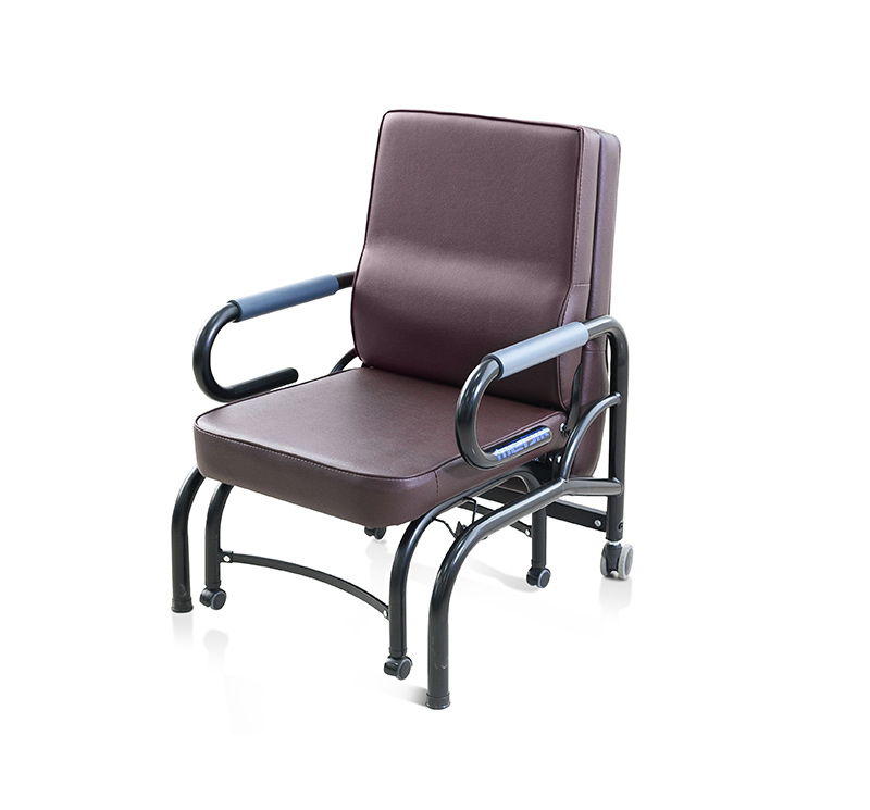 MK-A02 Folding Hospital Chair Bed With Wheels